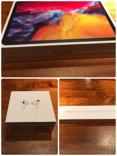 iPadとエアポッドとApple Pencilのはこ